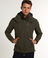 New Mens Superdry Hooded Polar Winhiker Jacket Army Green