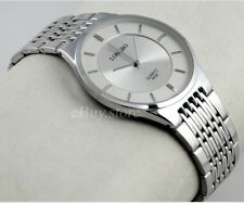 Ultra-thin Full Steel Round Man Lady Lovers' Analog Quartz Elegant Dress Watches