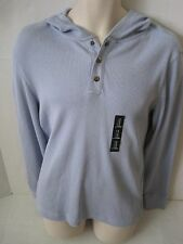 GAP Mens Light Blue Henley Hooded Thermal Shirt Sizes S,M,XL,XXL NWT