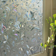 Free Shipping Glass Window Film Decorative Home Decor 3D Laser Static Cling Film