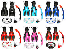 VP Mask and Snorkel + F52 Fins flipper combo FULL diving Set snorkelling TBF
