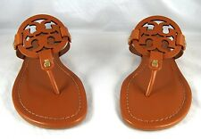Tory Burch Miller Veg Brown Leather Thong Sandal 5 to 11