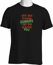 Funny Zombie T Shirt Out Run You Walking Dead Zombies Tee Small to 3XL and Tall