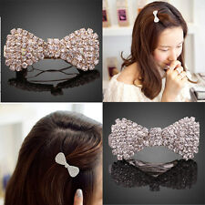 The New Lovely Princess Sweet Bowknot Hairpin Alloy Diamonds Generous Likability