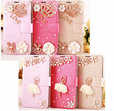 3D Diamond Bling Flip Wallet Stand Leather Case Cover For Alcatel One Touch CSW