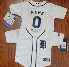 Detroit Tigers Cool Base MLB Majestic Infant Replica Jersey add any name & #