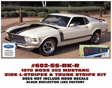 602-SS 1970 MUSTANG - BOSS 302 SIDE and TRUNK STRIPE KIT - NO HOOD STRIPES