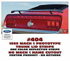 404 1969 MUSTANG MACH 1 - PROTO TYPE - TRUNK LID and EXTENSION STRIPES - CUSTOM