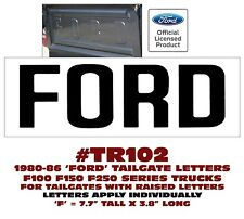 TR102 1980-86 FORD - STEPSIDE/FLAIRSIDE - TAILGATE LETTERS - F100  F150  F250