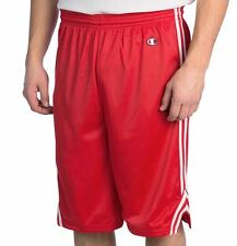 NEW MENS CHAMPION MESH LACROSSE BASKETBALL GYM ATHLETIC SHORTS RED