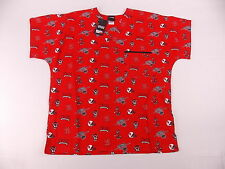 NCSU NC State Wolfpack Scrub Top by Dudz Choose Size M to 3X