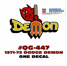 QG-447 1971-72 DODGE - DEMON with PITCHFORK DECAL - ONE DECAL