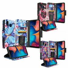 for Samsung Galaxy Phones Hybrid Leather Wallet Flip Case Credit Card Cover