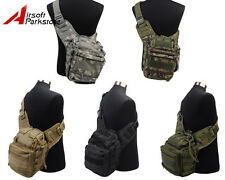Tactical Military Airsoft Outdoor Hiking Molle Shoulder Sling Bag Pouch Backpack