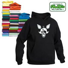 FIVE NIGHTS AT FREDDY'S FOXY FACE HOODIE ALL SIZES CHOICE OF COLOURS AWDIS