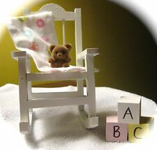 Rocking Chair Baby Shower Topper with Bear & ABC Blocks