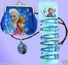 Disney Frozen Birthday Girls Party Loot Bag Selection Purse Necklace Hair Clips