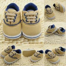 0-18M Baby Kid Girls Boys Crib Shoes Toddler Soft Sole Sneakers Prewalker B22