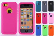 For iPhone 5C Heavy Duty Rugged 3-Piece Dual Layer Soft + Hard Combo Case Cover