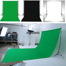 White,Black,Green 10 x 12FT Cotton Photo Photography Video Backdrop Background