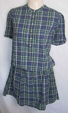 NEW LADIES MADE & CRAFTED LEVI'S COTTON CHECK SUMMER DRESS UK SIZE 10-16 BNWOT