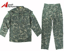 Military US Army Special Force Airsoft Tactical BDU Uniform Shirt Pants ACU Camo