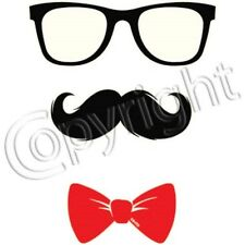 Mustache Guy With Glasses and Bowtie T-Shirt Nerd Funny Cute Tee