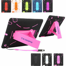 For Apple iPad Hybrid Rubber Shock Proof Heavy Duty Hard Case Stand Cover lot