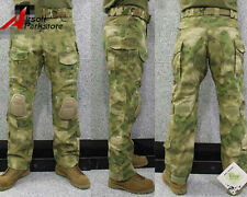 Tactical Military Camo BDU Pants Army Combat Trousers with Knee Pads A-TACS FG