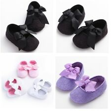 NEW Anti-slip Baby Toddler Boy Girl Child Cute Bowknot Stripe Shoe Infant #BS23