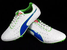 Puma TFX Sprint V5 Track Running Spikes White/Blue/Green 187857-01