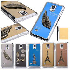 Luxury Cool 3D Pattern Aluminum Metal Back Case Cover For Samsung Galaxy Note 4