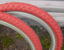 20 x1.75 +2.125 Red Comp III 3 skinwall BMX tires pair by CST