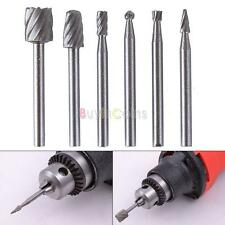 1set/6pcs HSS Routing Router Grinding Bits Burr For Rotary Tool Dremel Bosch