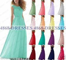 New Design Long Chiffon Formal Lace Party Evening BallGown Prom Bridesmaid Dress