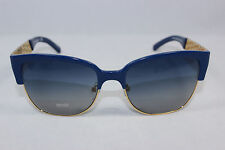 New Authentic TORY BURCH TY6032-3014/4L Navy Gold/Smoke Blue Gradient Sunglasses