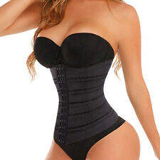 UK NEW BLACK SLIMMING TUMMY SHAPER WAIST TRAINING BODY SHAPER CORSET BELT Z12