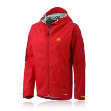 Adidas Terrex Swift Light 2.5L CPS Mens Red Waterproof Windproof Jacket New