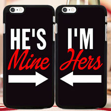 CUTE Couple Phone Case, Hes Mine Im Hers For iPhone, Galaxy S, Note - FREE GIFT!