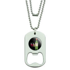 Dog Tag Bottle Opener Food Drink Bacon Coffee