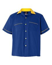 Classic Bowler 2.0 Bowling Shirt - Royal & Gold