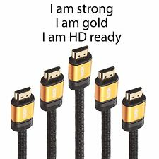 HDMI Cable v1.4 1m/2m/5m/10m PREMIUM HD High Speed Ethernet Gold 1080p 3D