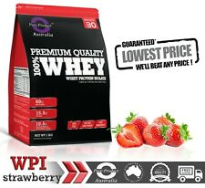 6KG WHEY PROTEIN ISOLATE POWDER  WPI  100% PURE - STRAWBERRY