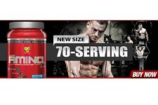 BSN AMINO X Endurance & Recovery Drink BCAA AMINOx 70 Servings BUILD MUSCLE