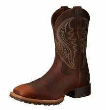 Ariat Hybrid Rancher Brown Oiled Rowdy Cowboy Western Men's Boots