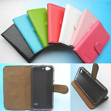 """for 5"""" ZTE Blade S6 4G LTE--Wallet stand Folder PU Leather Case cover Folio"""