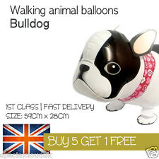BULLDOG DOG WALKING PET BALLOON ANIMAL AIRWALKER BIRTHDAY KIDS FARM