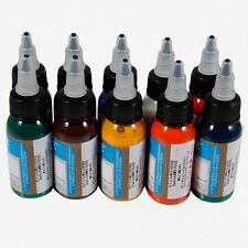 new update professional tattoo inks pigment 10 popular colors Quality hot sale