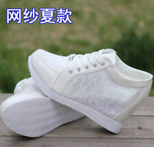 2015 Womens Floral Lace Summer High Top Hidden Wedge Heel Sneakers Trainer SHoes