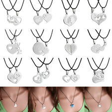 2pcs Charm Silver Stainless Steel chain necklace Pandent for women Fashion Gifts